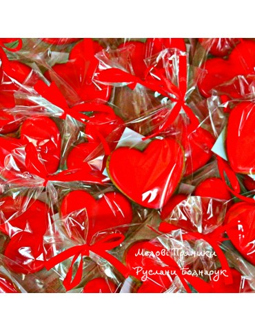 Пряник червоне серце,6см